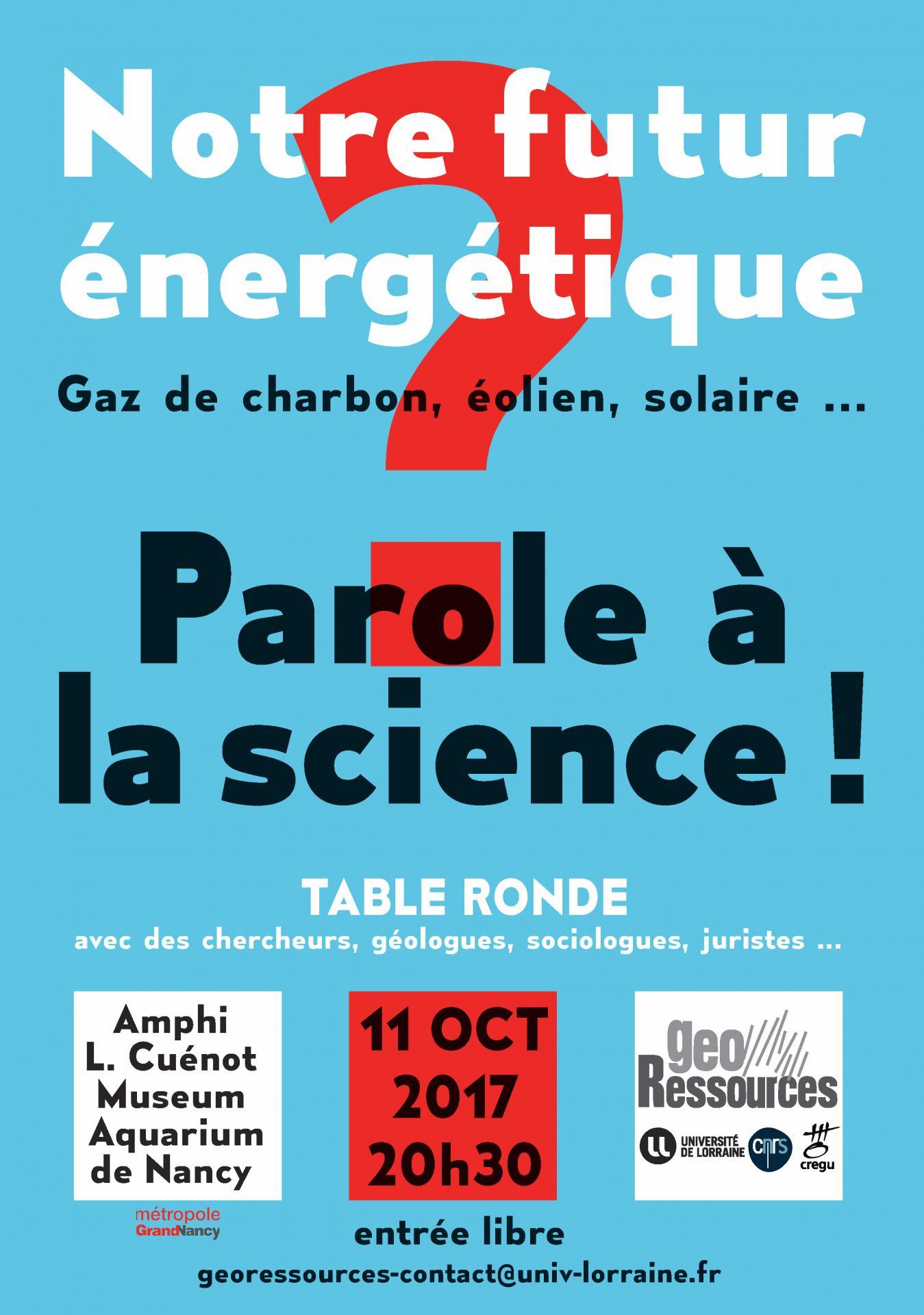 Notre futur nerg tique parole la science - Laisserons nous a notre table paroles ...